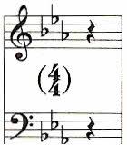 Cantate 82 ('Ich habe genug'), aria 'Schlummert ein, ihr matten Augen', m. 64, vierde tel